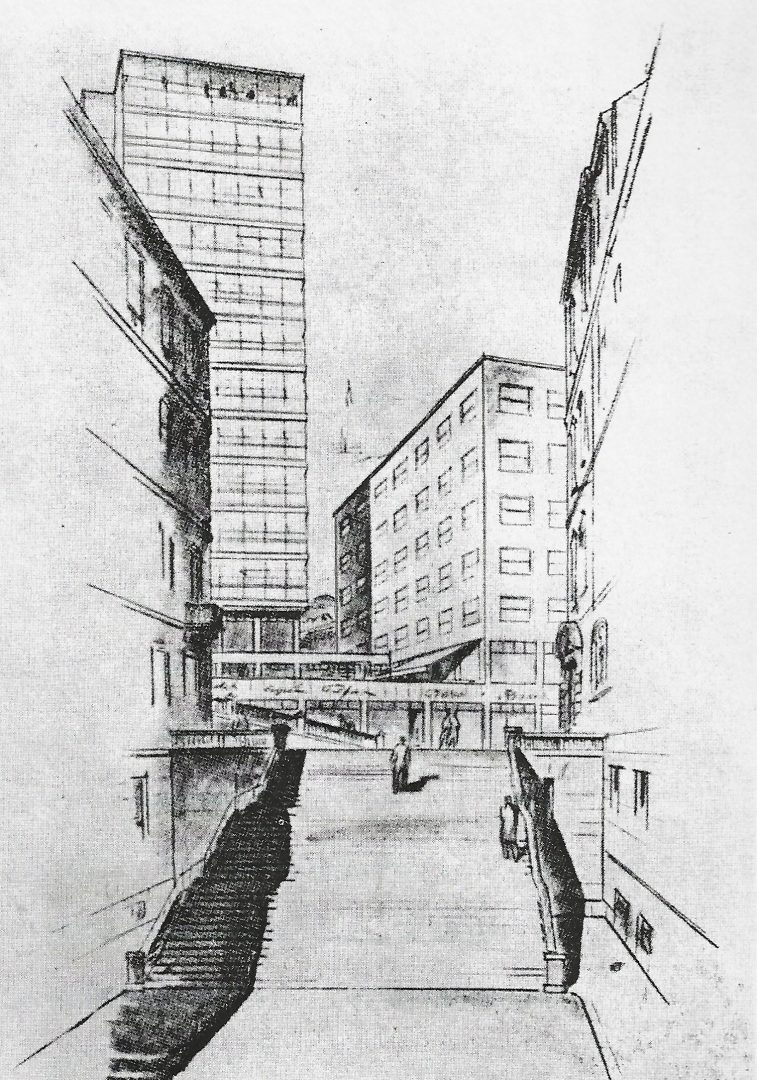 HKD - Pvijest zgrade - skica